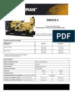 Especificaciones Tecnicas Generador OLYMPIAN GEH220-2