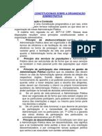 OS PRINCÍPIOS CONSTITUCIONAIS SOBRE A ORGANIZAÇÃO ADMINISTRATIVA