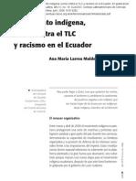 Ecuador mov indígena lucha contra el TLC y racismo