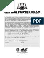 2013 Umpire Exam