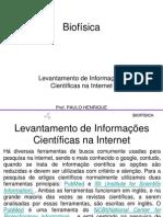Biofísica - Levantamento de Informações Científicas na Internet