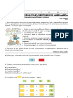 3 Lista de Exercicios Complementares de Matematica