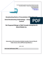 OpenMedia.ca/CIPPIC's Comments for CRTC 2013-106 (Bell's reattempted acquisition of Astral Media)