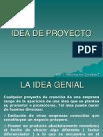 1. Idea de Proyecto