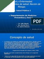 Salud y Enfermedad Determinantes de Salud Nocin de Riesgo 24438