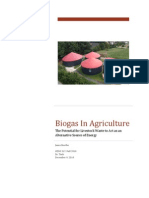 Biogas In Agriculture: The Potential for Livestock Waste to Act as an Alternative Source of Energy
