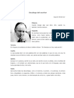 Augusto Monterroso - Decálogo del escritor