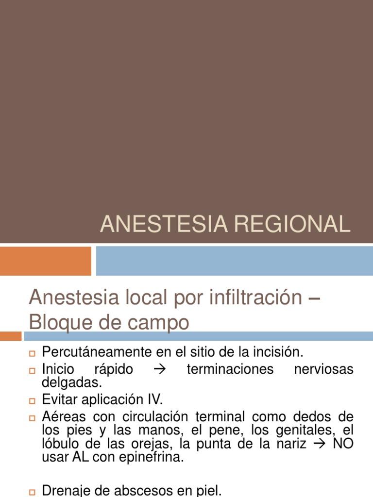 Anestesia Regional