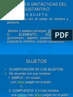 FUNCIONES SINTÁCTICAS DEL SUSTANTIVO