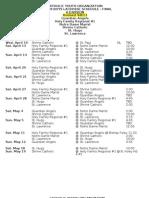 cyo lax schedule 2013
