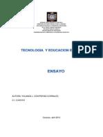 Ensayo Tecnologia Educativa