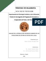 Tesis Analisis de La Interaccion Profesor Alumnos en Las Situaciones de Lectura de Textos en El Aula