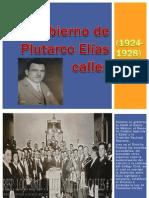 Gobierno de Plutarco Elías Calles (1924-1928)