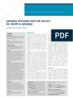 Epilepsy Mortality and Risk Factors April 2011