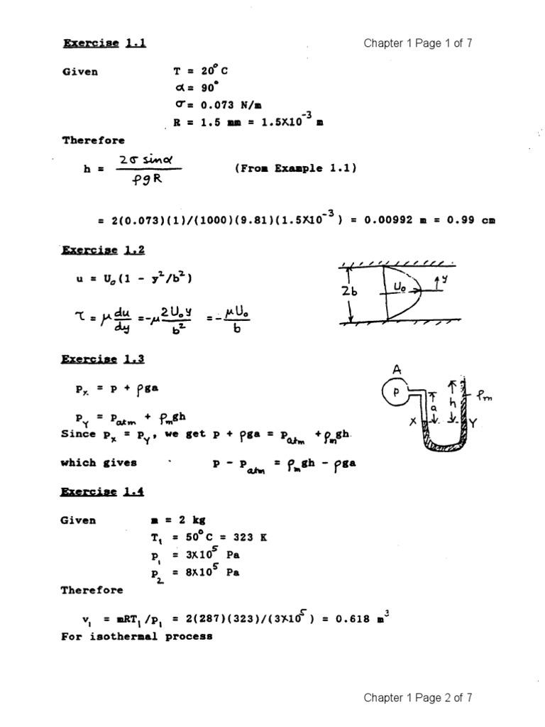 Fluid Mechanics 4e Solutions - Kundu Cohen | Momentum | Calculus Of  Variations