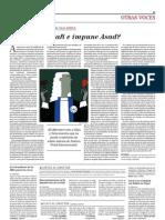 ¿Inmune Gadafi e impune Asad (Kai Ambos. ElMundo.es, 23ago2011)