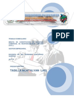 Minuta de Constitucion de Sociedad Comercial de Responsabilidad Limitada (s.r.l.)