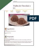 Pudim de Chocolate e Leite de Côco