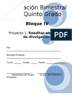 Plan - 5to Grado - Bloque IV - Español