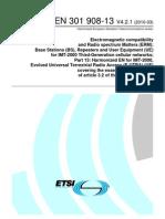 EN 301 908-13 V4.2.1(EUTRA_R&TTE)