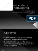 MENTAL HEALTH in Adolescence