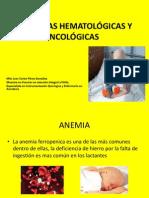 PATOLOGÍAS HEMATOLOGICAS Y ONCOLÓGICAS