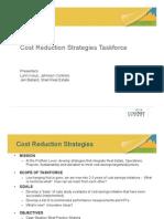 Cost Reduction Strategies Taskforce