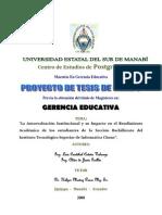 PROYECTO AUTOEVALUACIÓN CORRECCION TRIBUNAL
