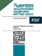 Archivo Municipal de Oñati. Tomo II (1494-1520)
