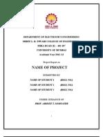 EWS Project Report Format