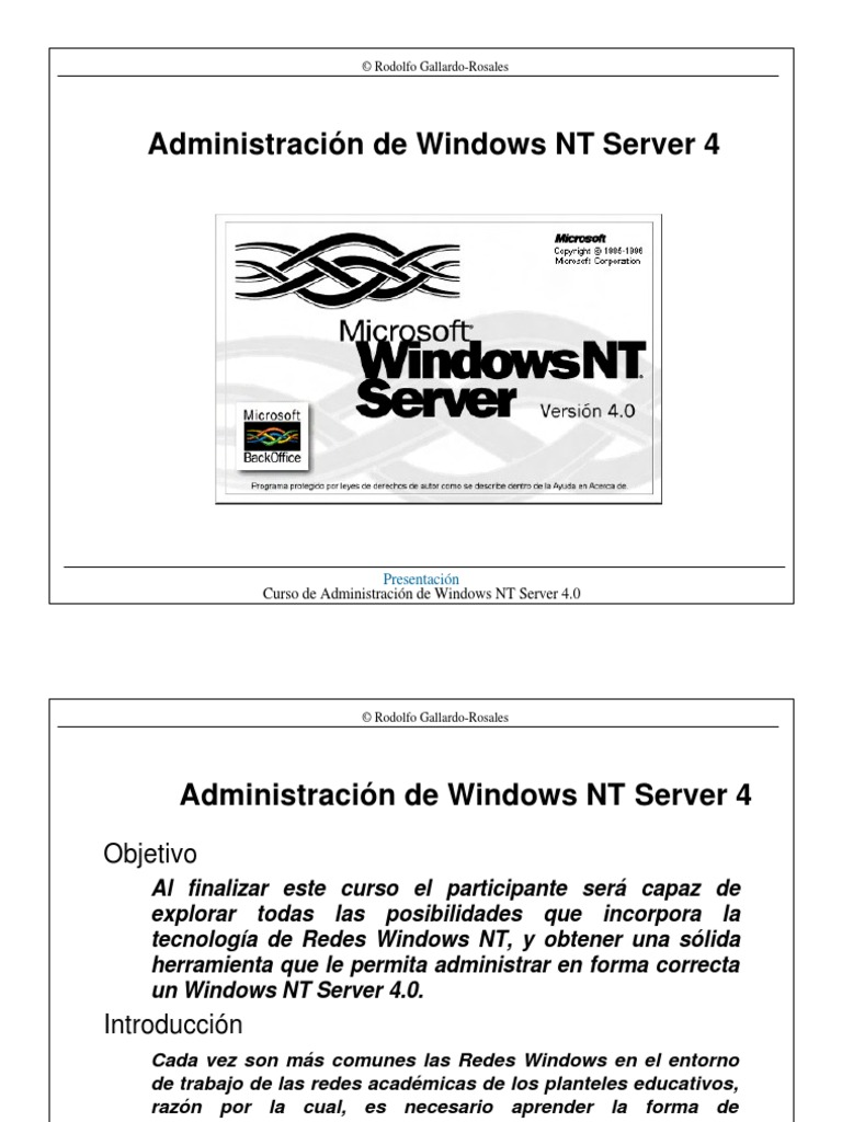 Administración de Windows NT 4 Server