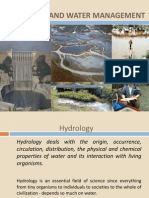 Hydrology and Water Management 1