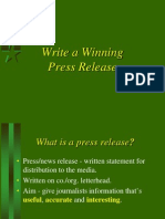 Winning Press Release.ppt