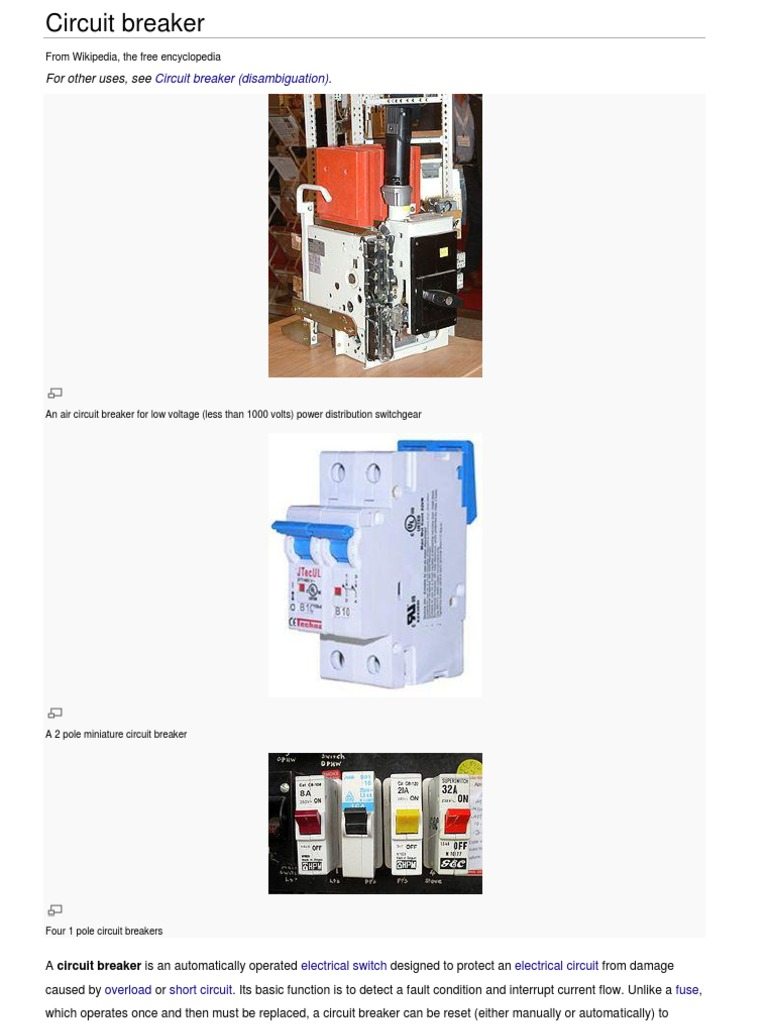 Circuit Breakers Isolater Electrical Equipment Physical Quantities