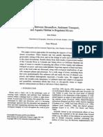 Relations Between Streamflow Sediment Transport and Aquatic Habitat in Regulated Rivers