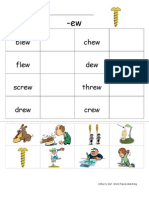 -Ew Word Family Worksheet