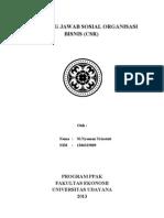 Tanggung Jawab Sosial Organisasi Bisnis (CSR)