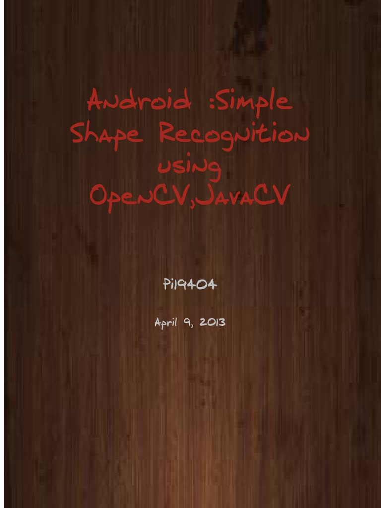 Android : shape Classification using OpenCV,JavaCV and SVM