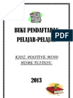 Buku Pendaftaran-kidz Positive Mind Home Tuition 2013
