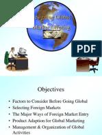 Global Marketing Presentation