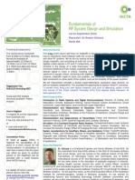 Fundamentals of RF System Design and Simulation