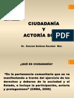 CIUDADANÍA Y ACTORÍA SOCIAL