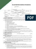Contractul de Prestari de Servicii Tipografice