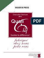 Dossier Presse Qualichef 2013