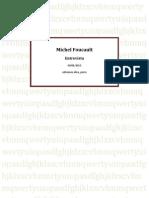 Michel Foucault . Entrevista
