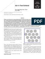 Anisotropic Diffusion in Face-Centered Cubic Opals
