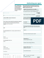 Agent appointment form