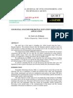 Gis Spatial Analysis for Digital Elevation Model _dem_ Application