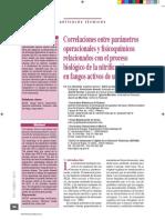 2012 - Correlaciones entre parámetros operacionales y físico-químicos relacionados con el proceso de nitrificación