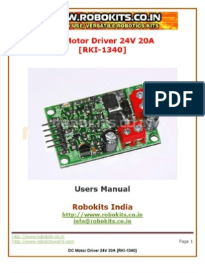 Microsoft Word - DC Motor Driver 24V 20A doc